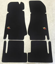 Car Carpet Foot Mats for Fiat 124 Spider Abarth Stick Nubukband Velour New