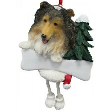E&S Pets Dangling Legs Christmas Ornament NEW Dog Pup SHELTIE Puppy Holiday