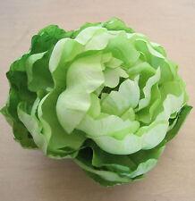 "Full 4.5"" Neon Green Peony Silk Flower Bar Brooch Pin,Wedding,Bridal, Prom,Dance"