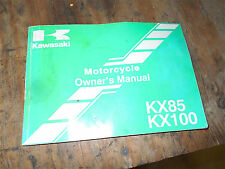 kawasaki kx85 kx100 owners manual book maintainence service kx 85 100