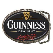 New Belt Buckle - Guinness Draught Chrome Belt Buckle Rare!