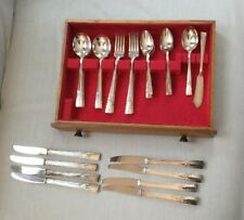 34Pc ARTISTIC Oneida We Rogers Silverplate Flatware Set ~ Grill Forks + more!