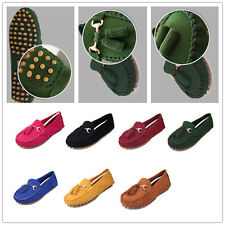 Women Classical Driving Flat Rubber Sole Casual Tassel Moccasin Loafer Shoes D92