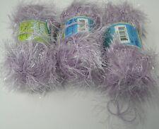 Lot 3 Skeins Nc Lavender Eyelash Glitter Yarn
