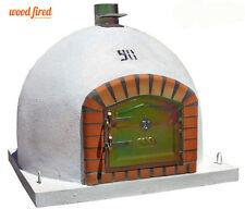 brick outdoor wood fired Pizza oven 100cm x 100cm  Deluxe model chimney mount