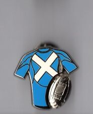 Pin's rugby / Coupe du monde 2007 - maillot Ecosse (signé Arthus Bertrand)
