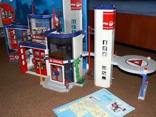 Gepimpte Playmobil Feuerwehrstation Feuerwehr-Hauptquartier 4819 mit Landeplatz