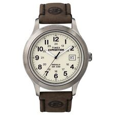 Brand New Timex Men's T49870 Expedition Metal Field Brown Leather Strap Watch