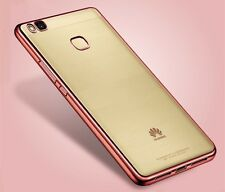 Premium Funda Protectora TPU Fucsia para Huawei P9 Lite Funda Estuche