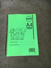 Nursery Attendance Register, Mark Book for Childminder Childminding, A4, REF:2GR