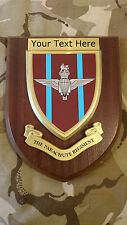 Parachute Regiment Personalised Military Wall Plaque UK Made for MOD