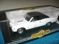1967 CHEVROLET CHEVELLE L-78 WHITE ON BLACK LIMITED (2500)  ERTL 1:18 SCALE