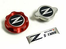 RED RACING CNC BILLET OIL CAP & RADIATOR CAP KIT FOR NISSAN 350Z 370Z 300ZX