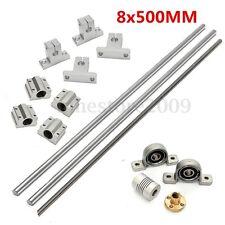 15pcs 8mm 500mm Lead Screw Rod CNC Linear Rail Shaft + Bearing Slide Support Set