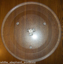 "14 1/8"" Amana/Maytag Microwave Glass Turntable Plate Tray # DE74-20002B Used"