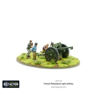 FRENCH RESISTANCE LIGHT ARTILLERY - WARLORD GAMES - BOLT ACTION - 28MM 1/56