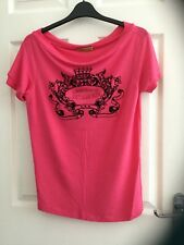 Versace Jeans ladies summer casual short sleeved tshirt top pink Small used