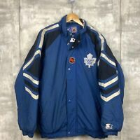 Toronto Maple Leafs Vintage Starter Insulated Jacket Size Medium Blue Nhl