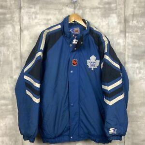 Toronto Maple Leafs Vintage Starter Insulated Jacket Size Medium Blue Nhl