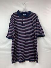 Men's Jos A Bank Leadbetter Blue Golf Short Sleeve Polo Shirt Size XXL