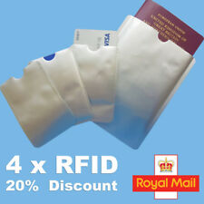 4x RFID Blocking Sleeve Credit Card Passport Protector Bank Card Holder Wallets