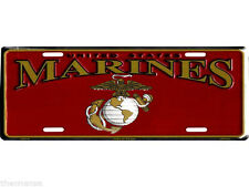 """Red Gold Silver United States US Marines Marine Corps EGA 6""""x12"""" License Plate"""