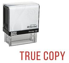 True Copy Office Self Inking Rubber Stamp - Red Ink (E-5102)