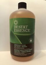 Desert Essence Thoroughly Clean Face Wash Cleanser 32 Oz Refill Oily/Combination