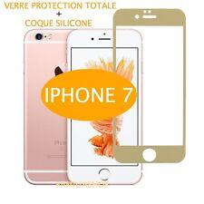 iPhone 7 VERRE TREMPE OR Film de protection Intégral Total écran 4.7 + COQUE