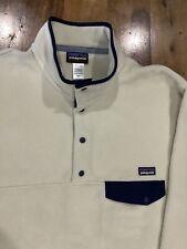 Patagonia Synchilla Snap-t Fleece Pullover Men's L Cream Color very soft