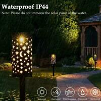 Solar Powered LED Lantern Decor Hanging Outdoor Garden Lamp Light Patio Y2A9
