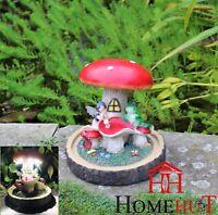 Garden Fairy Frog Mushroom House Solar Decorative Ornament Secret Gift