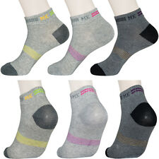 """6 Pairs Lot Womens Casual Ankle Socks """"Skin contact surface is 100% cotton"""" L917"""