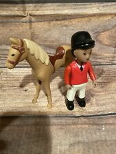 Little Tikes Vintage Dollhouse Stable Barn REPLACEMENT Pc Tan Horse&Brown rider