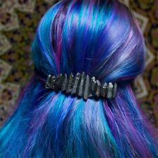 Black Wired Aura Quartz Raw Stone Crystal Hair Pin Accessories wedding gift