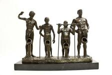 Bronze Limited Edition Pissing Contest Abstract Sculpture Hand Crafted
