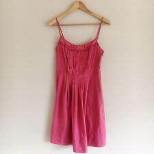 3e00569b354b Ann Taylor LOFT Pink Eyelet Pleated A-Line Dress Womens Size 4 Spring Summer