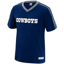 New Mitchell & Ness NFL Dallas Cowboys Navy Blue Overtime Win Vneck Tshirt