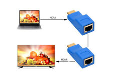 New 30M HDMI To RJ45 Network Cable Extender Converter Repeater Over CAT-5e CAT6