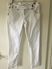 River Island Ladies White Cropped Jeans 8