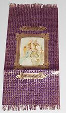 GESCHENKPAPIER farbiger Papierbogen ROKOKOSZENE-Lithografie+Golddruck um 1900