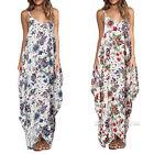 Summer Women's Boho Long Maxi Skirt Evening Party Beach Casual Floral Sun Dress