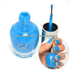 1 Kleancolor Gel Effect Nail Polish Lacquer G014 Neon Aqua No UV Lights Needed!