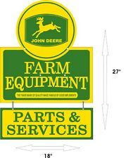 JOHN DEERE Equipment Sales Service Parts Aluminum Vintage 27