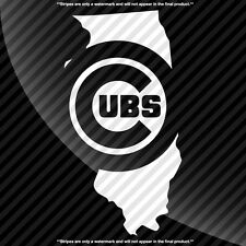 Chicago Cubs Illinois IL State Pride Decal Sticker - TONS OF OPTIONS