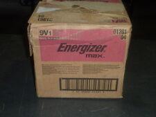 case of 48 Energizer 9V max Single Use Batteries 1 battery blister pack