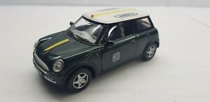 Kinsmart green Mini cooper car model racing 1:28 pull back