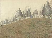 Landscape with Moon by Seifu Tsuda 100cm x 72.5cm Art Print