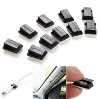 50x Car Clip Wire Cable Organizer Vehicle Cord Charger Holder Tidy Self Adhesive