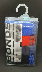 BNIP Boys Sz 12 - 14 Pack of 4 Bonds Brand 100% Cotton Classic Briefs Underpants